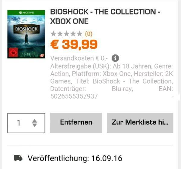 Bioshock The Collection [Xbox One] Uncut Vorbestellen