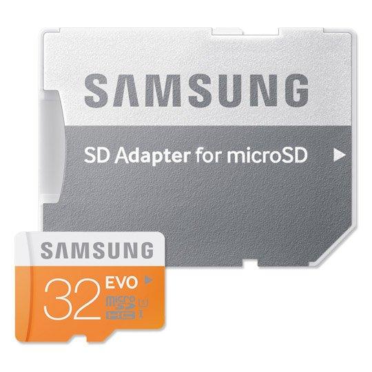Samsung Evo microSDHC mit 32GB Class 10 / U1 inkl. SD-Adapter für 7,99€ [Real Abholung]