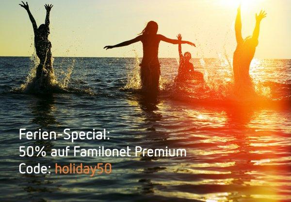 50% Rabatt auf Familonet Premium noch bis 06.09.2016