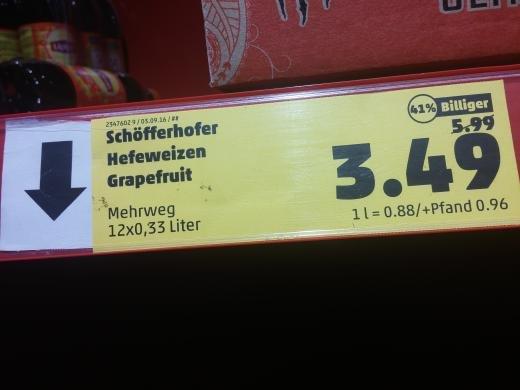LOKAL? Schöfferhofer Weizen Grapefruit 12×0.33