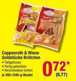 Metro Coppenrath & Wiese Aufbackbrötchen für 77 Cent brutto