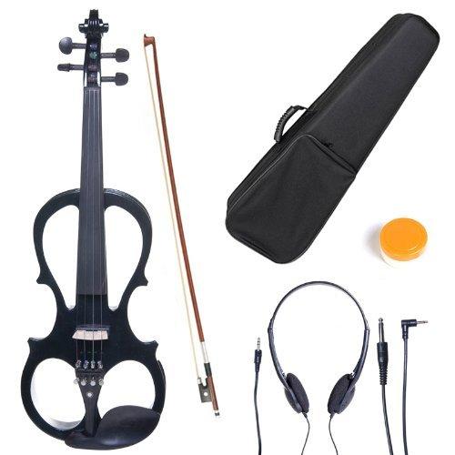 [Amazon.de] Cecilio CEVN-L1BK Stil 1 E-Violine E-Geige Für Linkshänder mit Koffer, Kolofonium, Bogen und Kopfhörer (1/2 Größe) für 46,36 € (statt 150+ €)