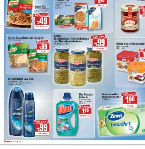 Zewa bewährt Toilettenpapier bei Rewe-Dortmund für 1,60