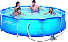 Bestway Frame Pool Steel Pro Set, blau, 305 x 76 cm [Stahlkonstruktion incl. Filterpumpe] für 59,99€ @Amazon.de Blitzangebot