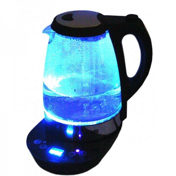 DMS WKGD-1.7 Touch Glas Wasserkocher Temperaturwahl mit Warmhaltefunktion 2200 W @dualmediascout 24,99€