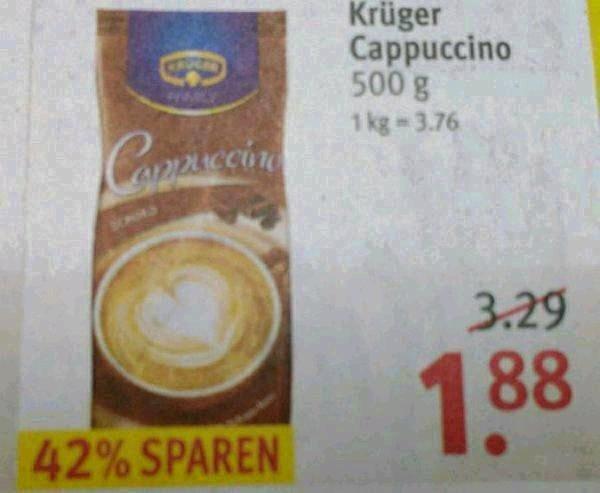 Krüger Cappuccino, diverse Sorten, 1,69 € @ Rossmann