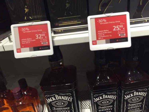 [Duty Free Shop Heinemann] Johnny Walker Double Black Label und Black Label 1 Liter