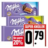 EDEKA Milka Tafelschokolade 20 % reduziert