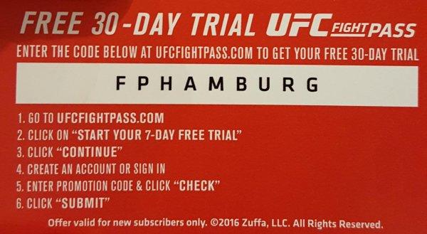 UFC Fightpass 7 Tage gratis