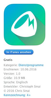 coconutBattery Mobile Gratisdownload für iOS Geräte