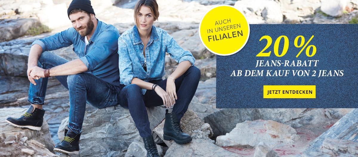 Takko - Kaufe 2 Jeans und erhalte 20 % Rabatt