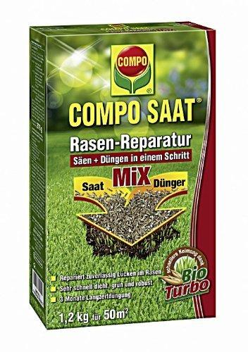 [Amazon Prime] Compo 1026502004 Saat Rasen Reparatur Mix Samen und Dünger, 1,2 kg für 50 m², 13€