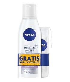 [Amazon Sparabo] Nivea Sensitives 3 in 1 Mizellenwasser (Gesichtswasser), plus Wattepads, 3er Pack (3 x 200 ml) für 4,52€