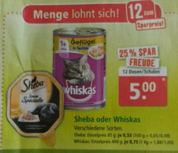 Whiskas 400g / Sheba 85g ab 12 Stk. für 0,42€ @ Fressnapf Lokal