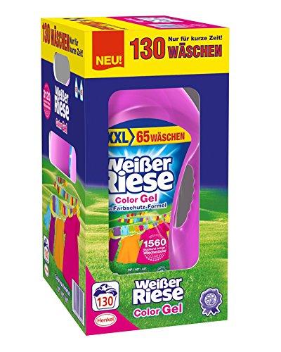 (Amazon) Weißer Riese Color Gel, 1er Pack (1 x 130 Waschladungen) knapp 12 Cent pro Waschladung