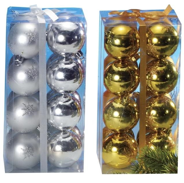 32x wetterfeste Christbaumkugeln (16 gold / 16 silber) für 0,84€ + 4,99€ Versand