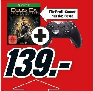 [Mediamarkt] Xbox One Elite Wireless Controller + Deus Ex:Mankind Divided (XB1) für zusammen 139,-€**Aktion Online!