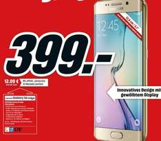 "[Mediamarkt/Saturn/Amazon] Samsung Galaxy S6 Edge, 32GB, (5.1"") QuadHD Dis­play, 2.1Ghz Oc­ta-Co­re, 16MP Ka­me­ra in 3 Farben für je 399,-€ inc. 6 Monate Juke Musicflat..Bei Saturn für 394,-€ Versandkostenfrei"
