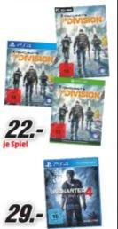[Lokal Mediamarkt Stuttgart-Vaihingen/Leinfelden-Echterdingen] Tom Clancyx27s The Division (XB1 und PS4) für je 22,-€***Uncharted 4: A Thiefx27s End (PS4) für 29,-€
