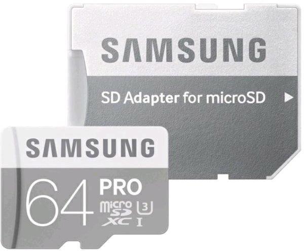 [digitalo] Samsung microSDXC Speicherkarte 64 GB PRO Class 10, UHS-I, UHS-Class 3 inkl. SD-Adapter