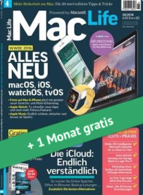 Zeitschrift Mac Life für 3 + 1 Monate für effektiv 3,70€