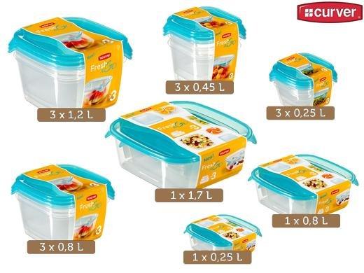 Curver Set bestehend aus 15 Fresh & Go Frischhaltedosen für 20,90€