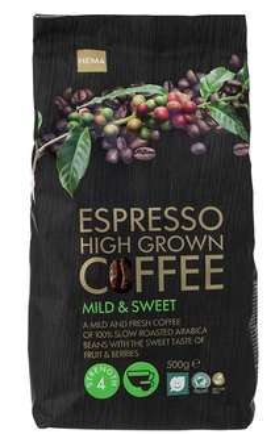 15% Rabatt auf alles bei [Hema] versandkostenfreie Lieferung ab 15€ - z.B. 4x 500g Espressobohnen für 15,30€ statt 18€