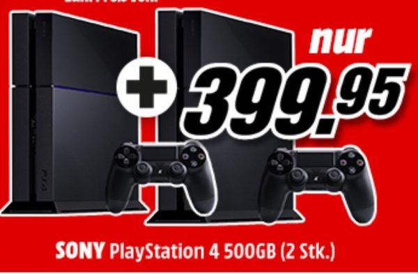 Schweiz: Können wir auch: PlayStation 4: 2 zum Preis von einer - Effektiv 199.98 CHF/Stück nur 08.09. online bei Media Markt CH