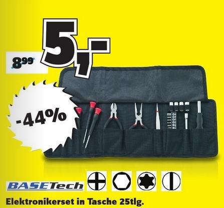 (Conrad Filialen) Basetech 25teilig Elektronik- u. Feinmechanik-Set für 5€