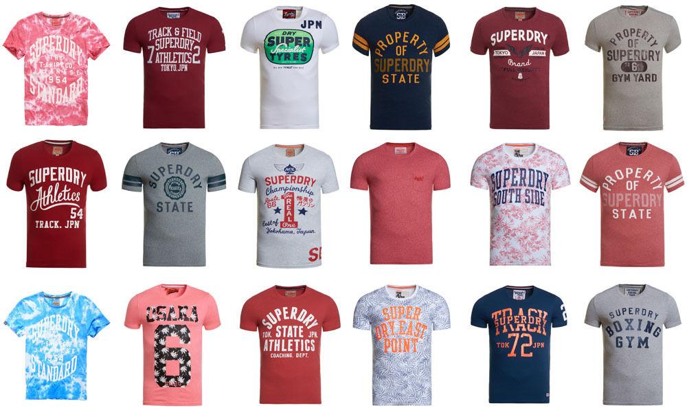 Herren Superdry T-Shirt versch. Modelle und Farben für 11,96€ [eBay]