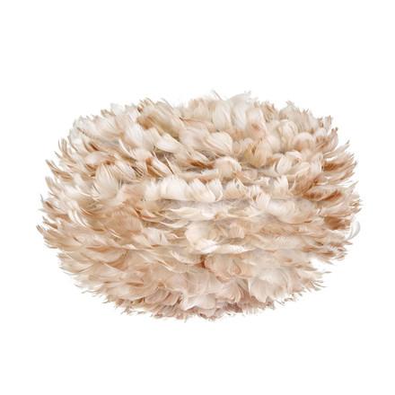 [connox] Vita Eos medium, hellbraun - verspielte Pendelleuchte mit hellbraunen Vogelfedern für 75,66 €, PVG 99 €