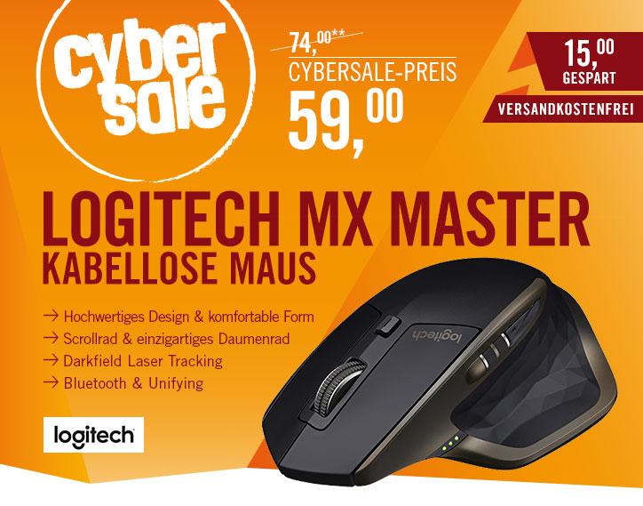 [cyberport] Logitech MX Master kabellose Maus für Windows/Mac mit Verbindungsmöglichkeiten (Bluetooth, Unifying)