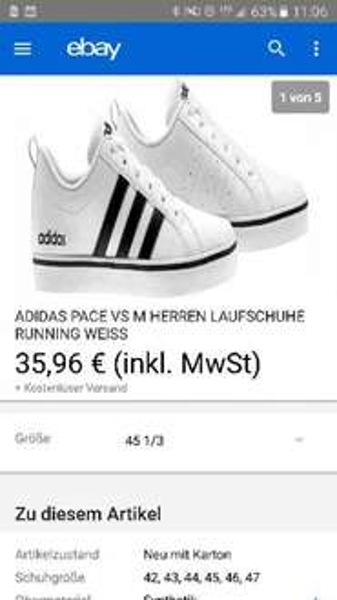 Adidas neo sneaker verschiedene Größen für 35,96€ kostenloser Versand