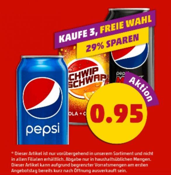 [PENNY] 3 Dosen Pepsi/Pepsi Max/Schwip Schwap für 0,95€