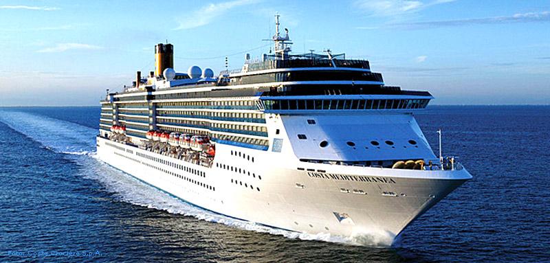 Costa Mediterranea: Mittelmeer-Kreuzfahrt für 2 Personen (Außenkabine mit Meerblick) [Preis p.P.]