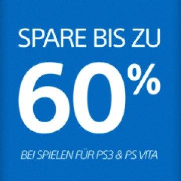 [DE PSN] Spare bis zu 60 % bei Spielen für PS3 & PS Vita