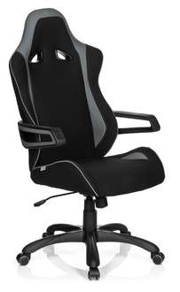 Gaming Stuhl / Bürostuhl RACER PRO II Stoff schwarz/grau @buerostuhl24.com 174,90€