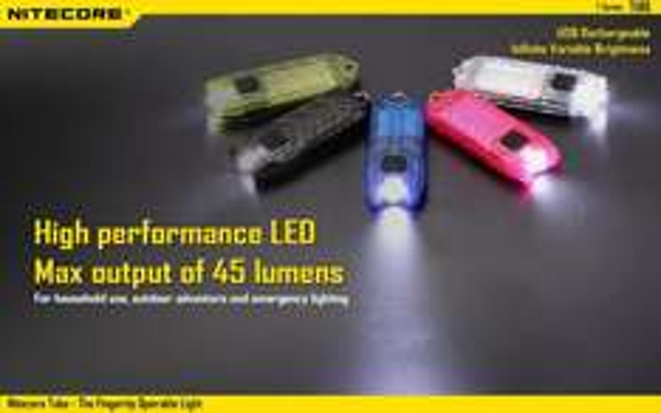 [Banggood] NiteCore Tube - Schlüsselanhängerlampe, 45 Lumen, stufenlos regelbar, USB-Aufladung