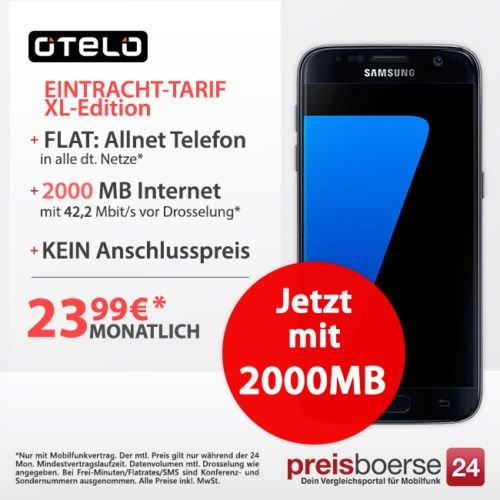 Samsung Galaxy S7 119€ mit otelo Eintracht-Tarif - XL-Edition 2GB für 23,99€ + Gratis Handyversicherung