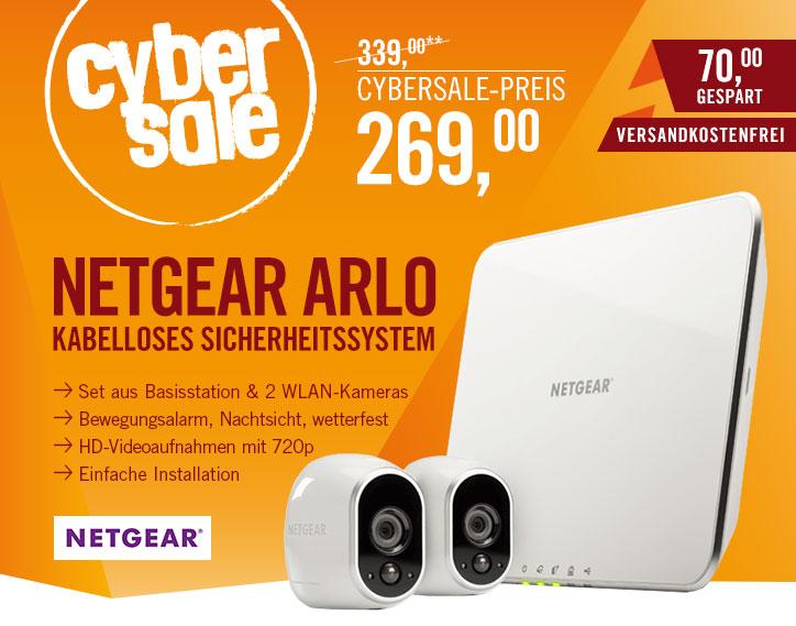 [cyberport] Netgear Arlo-Sicherheitssystem VMS3230 2x Kamera & Basisstation 720p Nachtsicht