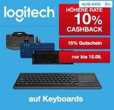 15% Rabatt auf Wireless Logitech Keyboards (z. b. k830 für 62€) + 10% Shoop
