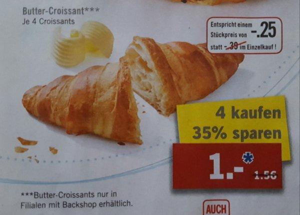 [LIDL] 4 Butter-Croissants für 1€ [35% Rabatt, ab Montag]
