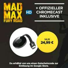 [Wuaki.tv] Google Chromecast 2 inkl. Mad Max Fury Road