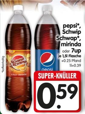 [EDEKA BUNDESWEIT] 1,5l Flasche Schwip Schwap für 0,41€ (Angebot+Scondoo Cashback)