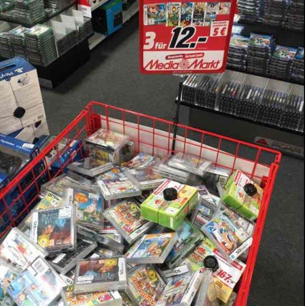 Nintendo DS Spiele 3 Stück für 12 Euro Mediamarkt München Solln Lokal?