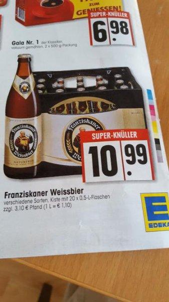 [Main Taunus Edeka] Kasten Franziskaner für 10,99 Euro