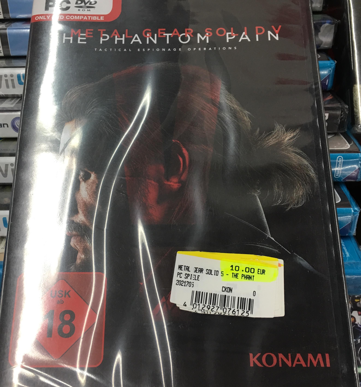 Lokal Gütersloh Metal Gear Solid V The Phantom Pain für PC Media Markt 10,00 Euro