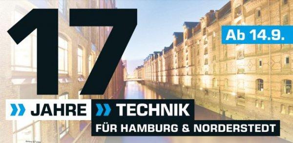 [Weitere Geburtstagsangebote der Saturnmärkte Hamburgs ab 14.09] Zb... Huawai P9 Lite für 229,-€ oder LG K220 X Power 16GB  für 159,-€ etc...