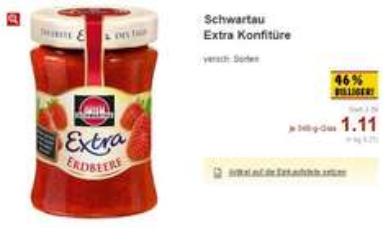 [Kaufland] Schwartau Extra Konfitüre | 46% billiger | bundesweit
