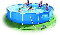 [Amazon] Blitzangebot Bestway Frame Pool Steel Pro Set, 366 x 76 cm  Idealo: 118,61 €